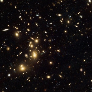 Archival image of the Abell 2744 cluster taken with Hubble's visible light ACS instrument. Credit: NASA, ESA, and R. Dupke (Eureka Scientific, Inc.), et al.