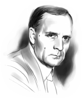 This is an illustration of Dr. Edwin Powell Hubble.