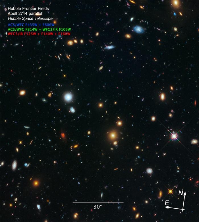 Parallel field of Frontier Field Abell 2744
