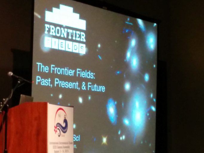 The Frontier Fields was highlighted with a 3-day focus meeting at the International Astronomical Union general assembly meeting in Honolulu, Hawaii.