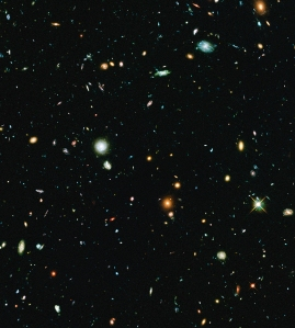Abell 2744 Parallel Deep Field from the Hubble Frontier Fields Project Credit: NASA, ESA, and J. Lotz, M. Mountain, A. Koekemoer, and the HFF Team (STScI)