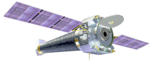 Shown here is NASA's Chandra X-ray Observatory, which can observe high-energy X-rays. Credit: NASA