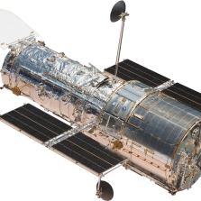 Shown here is NASA's Hubble Space Telescope, which can observe ultraviolet light, visible light, and near-infrared light. Credit: NASA